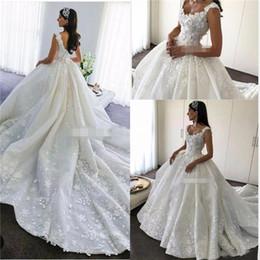 $enCountryForm.capitalKeyWord NZ - Arabic Ball Gown Lace Wedding Dresses Luxury Illusion Bodice Pearls Beaded Middle East Dubai Wedding Bridal Gowns