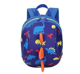 2018 baby harness reins Cartoon Baby Toddler Kids Dinosaur Safety Harness Strap Bag Backpack with Reins discount baby harness reins