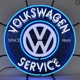 "vw signs Canada - VWNEON VW GLASS NEON LIGHT BEER BAR PUB LIGHT SIGN 19""x15"""
