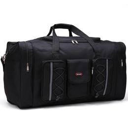 Bolsas de viaje para hombres Multifuncional Oxford hombres negros viajan bolsa de viaje 65 cm bolsa de equipaje de mano de gran capacidad big valise cubos de embalaje en venta