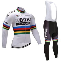 298b9ad38 pro tour team 2017 white champion winter fleece cycling jersey warmer bike  clothing MTB Ropa Ciclismo Bicycle maillot jacket set