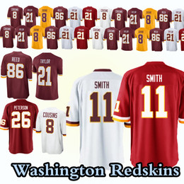 Washington Redskins jerseys 11 Alex Smith 26 Adrian Peterson 21 Sean Taylor  8 Kirk Cousins 29 Guice 86 Reed jersey 4cad2befe
