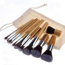 Gift sets cosmetics online shopping - Hot New makeup brushes Tools Bamboo stalk Cosmetic Brushes set High Quality DHL shipping Gift