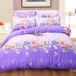 $enCountryForm.capitalKeyWord Canada - 4 Pieces ( Quilt, Pillow Covers, Bed Sheet) D Pattern Duvet Covers Warm Bedding Set Floral Printing Many Colors for Wholsale