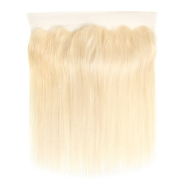 Weave straight 613 online shopping - 10A Blonde Body Wave Lace Closure Brazilian Human Hair T1b Straight Human Hair Ear To Ear Lace Frontal