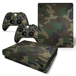 $enCountryForm.capitalKeyWord Canada - Cool Camouflage Style Full Set Skin Sticker Protective Vinyl Decals For Microsoft xbox one X Console and 2 Controllers Cover Skin Stickers