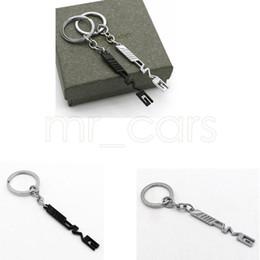 Wholesale Key Holder Auto Car Styling Car Key Ring Key Chain AMG Badge Car Emblems For Mercedes Benz A45 SLS AMG E63 GGA521