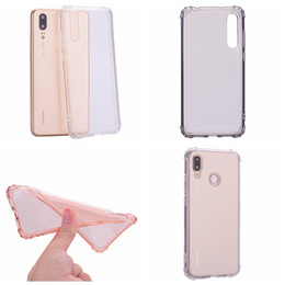 Discount blank iphone covers - 1.5MM Shockproof Clear Soft TPU Case For Huawei P20 Pro P10 Lite Mate 10 Y9 2018 Cell Phone Back Skin Rose Gold Crystal