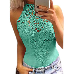 d930ef046f96 Cut Out Lace Bodysuit Solid Overalls Sleeveless O-neck Women Jumpsuit Sexy  Bodysuits 2018 Fashion Body Top Summer Bodycon GV777