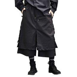 e96b83dbd Male Fashion Casual Harem Trouser Stage Wear Wide Leg Pant Punk Hip Hop Costumes  Men Japan Style Kimono Skirt Pant