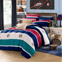 $enCountryForm.capitalKeyWord Australia - Stripe Pillowcase Coverlet Sets pastoral flower printing Bedding sets double Bedlinen 100% Cotton queen size bed sheets set