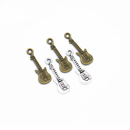handmade guitars UK - Bulk 500 pcs  Lot 24*8MM guitar charms pendant, music charms good for handmade craft, jewelry making