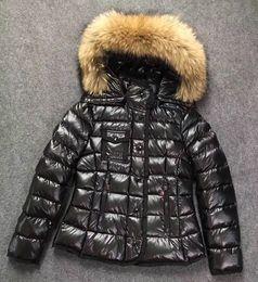 Dog hat women online shopping - Winter Women down coat Dress Coat Real Raccoon Fur Coat Detachable Collar Hood Parkas Brief paragraph bag side pocket Jacket ARMOISE