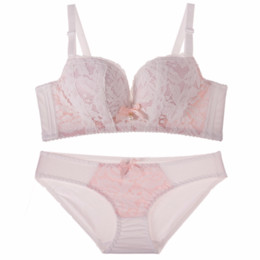 8400a8010dfd52 Hot-selling Lace Sexy Push up Bra Underwear Vintage Solid Color Bra Set  2018 Comfortable Transparent Sexy Lingerie Women Bra