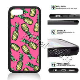 pineapple case for iphone NZ - Colorful Summer Fruit Pineapple Floral Phone Case For iPhone X 8 7 6 6s Plus 5s SE Phone Cover Free Gift