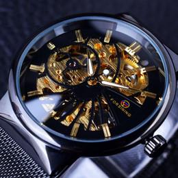 $enCountryForm.capitalKeyWord Australia - Mechanical Luxury Watch Men Brand Relogio Masculino Stainless Steel Mesh Belt Business Uhren Skeleton Watch D18101301
