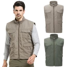 $enCountryForm.capitalKeyWord NZ - Vest Men Unloading for Photographers Quick Dry Mesh Multi Pockets Sleeveless Jackets Coats 2018 Summer Male Waistcoats Black