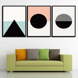 $enCountryForm.capitalKeyWord NZ - Painting Minimalist Poster Circular Nordic Style Canvas Art HD Prints Wall Cuadros Pictures For Home Wedding Princess Decoration