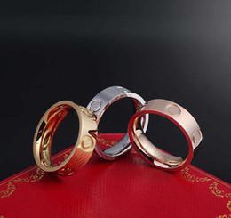 Отвертка кольцо, высокий уровень 316L титана стали ногти кольца любителей люксовый бренд кольца, размер для женщин и мужчин в 4 мм и 6 мм с коробкой