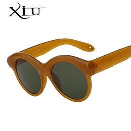 Unique Sunglasses Brands Australia - XIU Oval Round Women Sunglasses Brand Designer Unique Style Sunglass Retro Vintage Woman Glasses Top Quality Oculos UV400