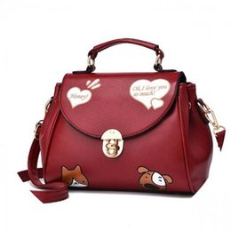 White pocket dog online shopping - New Cat and Dog Animal Prints Women Messenger Bags Crossbody Bag Woman Leather Handbags Ladies shoulder bag