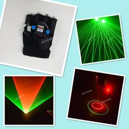 green costume gloves 2019 - L830 Ballroom dance costumes 4 green heads laser gloves Disco dj party Laser vortex gloves Green red lighted gloves robo
