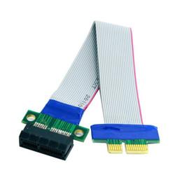 Riser Cable Australia - PCI-E Express 1X Slot Riser Card Extender Extension Ribbon Flex Relocate Cable 20cm