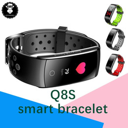 home care products 2019 - Heart Rate Blood Pressure Monitor Health Care Product BT4.0 Smart Bracelet Q8 Q8S Color Screen Smart Band Fitness Tracke