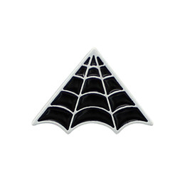 China Black Spiderweb Brooches Pins For Women Mens Suit Shirt Collar Badge Lapel Pins Wholesale Jewelry Broche Drop Shipping suppliers