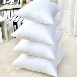 seat throws NZ - White Cushion Insert Soft Car Sofa Chair Down Alternative Throw Pillow Core Inner Seat Cushion Filling 35-70cm Embossed Cloth