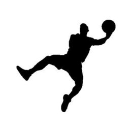 Wholesale Basketball Player Silhouette Car Supplies Sticker Vinyl Car Bag Body Decal Decoration Personalized