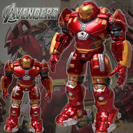 Red Hulk Figures Australia - 2015 Marvel The Avengers 2 Age Of Ultron Iron Man Hulk Buster 14  17cm Light Action Figure Model Toy Hulkbuster Free Shipping