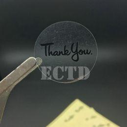 $enCountryForm.capitalKeyWord Australia - stickers thank you 120 Round Transparent Black Thank you with Sticker envelope wedding favors invitations seal stickers 30*30mm