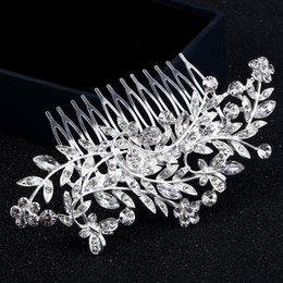 Butterfly hair comB wedding online shopping - 2018 Promotion Time limited Feis Fashion Crystal Leaf And Love of Butterfly Shining Hair Decoration Pins Bride Wedding Accessory