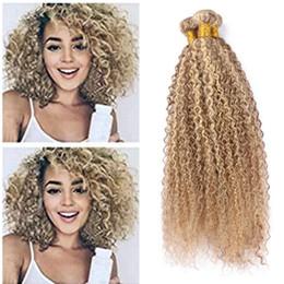 $enCountryForm.capitalKeyWord Australia - Piano 27 613 Human Hair Weaves Kinky Curly Wave Hair Extension Afro Kinky Curly Hair Extension Blonde Virgin Brazilian Bundles Fast Shipping