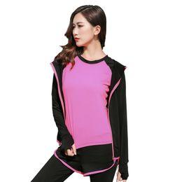 $enCountryForm.capitalKeyWord UK - Women Yoga Gym Suit Jacket Set 5PCS SET Girl Blouse+t-shirt + Pants+Shorts+Bra Tight Leggings Costume Sports Fitness Jogging Set