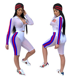 Women's cycling clothing online shopping - Independence Day Sexy Mesh Two Pieces Suit USA National Flag Printed See through Summer Sand Beach Sun protective Clothes CCA9717 set