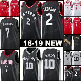 5c3d4b595 2 Kawhi Leonard 10 Demar DeRozan Toronto San Antonio  7 Carmelo Anthony  Houston Rockets Jersey Spurs Raptors Basketball Jerseys