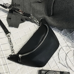 belly pack 2019 - Diinovivo Fashion Chain Chest Bag Women PU Leather Waist Bag Walking Shopping Belly Belt Brand Shoulder Fanny Pack A074