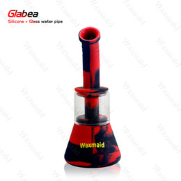 Girl Bongs NZ - Bong Oil Rig Mini Order 1 Piece Patented Silicone + Glass Hybrid Dab Rig Smoking Water Pipe Bong for Men Girl Free Shipping
