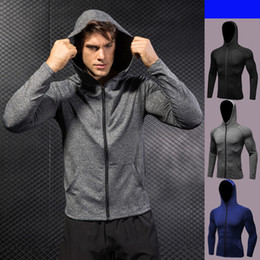 $enCountryForm.capitalKeyWord NZ - Men Jacket Camping Zipper Active Male Quick Dry Jackets Outdoor Breathable Sports Running Coat Riding Fitness Slim Sportwear