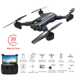 Helicopters Toys Camera Australia - New Arrival Foldable Wifi Drone 20 Mins Flight Time Drones with 2MP Camera RC Quadcopter Toy Optical Flow FPV RC Helicopter with Dual Lens
