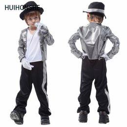 afe1fac3156 Michael Jackson Halloween NZ - HUIHONSHE Superstar Michael Jackson  performence suits Halloween children cosplay costume singer