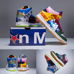 Sneaker for good online shopping - Good Quality For Dunk SB High X Thomas Campbell What The Doernbecher Basketball Shoes Multicolor Graffitti Mens Women Sports Sneakers