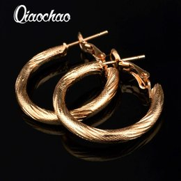 $enCountryForm.capitalKeyWord Canada - Wholesale- Accessories!!Ornaments 18 k rose gold Hoop Earring,Gold-colour Fashion Jewelry For Female E217