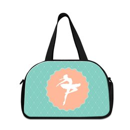34408440e433 Discount cute luggage bags Cute Travel Duffle Bag Patterns Green Ballet  Dancing Girl Shoulder Gym Bags