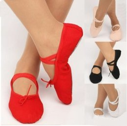 Dancing shoes for kiDs online shopping - Hot sale Canvas slippers pointe dance gymnastics child adult ballet dance shoes for kids adult