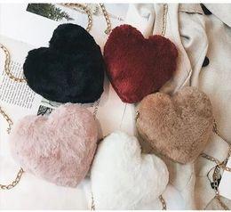 $enCountryForm.capitalKeyWord NZ - Instagram Ultra Fire Bag Woman New Plush Heart-shaped Chain Mini Cute Casual Slant Shoulder Lonely Bag