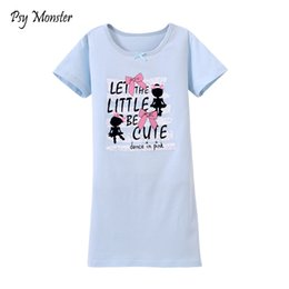 girls cotton nightdresses 2019 - New Girls Pajamas 100% cotton pure Nightdress Pajama Infantil Sleepwear home wear nightdress Clothing Baby Nightgowns P3