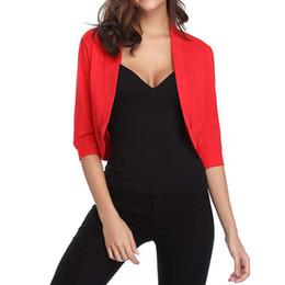 62b9e8467 Ladies short shrugs online shopping - 2018 Sexy Black Bolero Womens Elegant Ladies  Shrug Half Sleeve